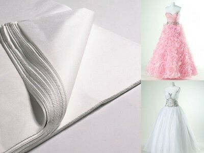 WHITE LUXURIOUS ACID FREE TISSUE PAPER - 50cm x 75cm - PROM / BRIDAL DRESS GOWNS