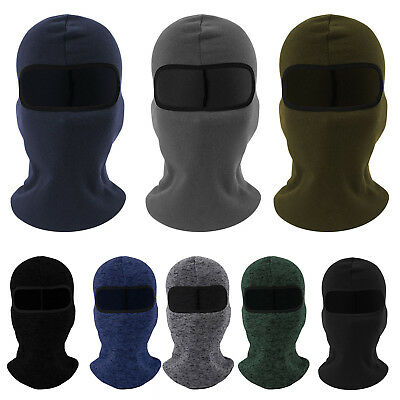 Motorcycles Thermal Fleece Balaclava Neck Winter Ski Full Face Mask Cap Cover AU