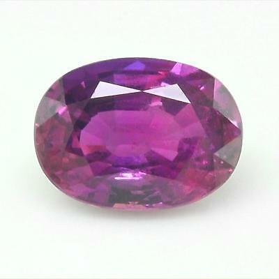 GIA Certified Natural Unheated Sapphire VVS Clarity Neon Purple Color 2.27 Carat