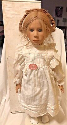 """Sonja Hartmann Puppe Doll 'Mathilda?""""  24"""" Artist German Doll with Box and Stand"""