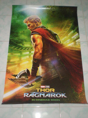 Movie Thor Ragnarok Poster Original Marvel 2017 27x40 Theater Ds S Sided