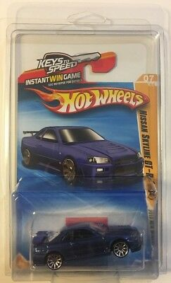 Hot Wheels 2010 New Models NISSAN SKYLINE GT-R (R34) Blue * Protecto * 15A