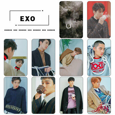 10pcs KPOP EXO Universe Winter Special Crystal Card Sticker Sticky Photo Cards
