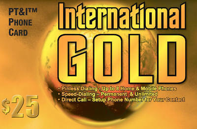 International Calling Card (Phone Card) $25 with 625 Minutes US 48 States