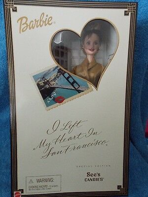 Barbie Doll See's Candies I Left My Heart In San Francisco Special Edition