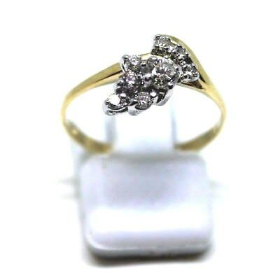 18Ct Yellow Gold Diamond Set Dress Ring 2.0Grams With Written Valuation