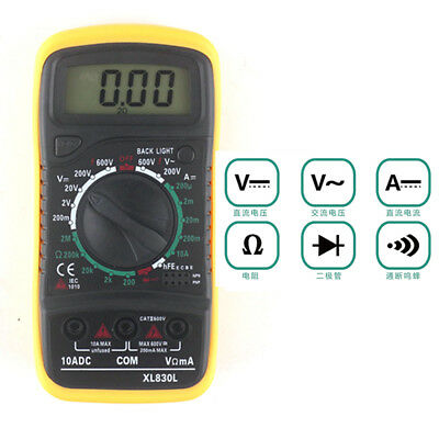 Useful EXCEL Digital Multimeter XL830L Volt Meter Ammeter Ohmmeter Tester Tool