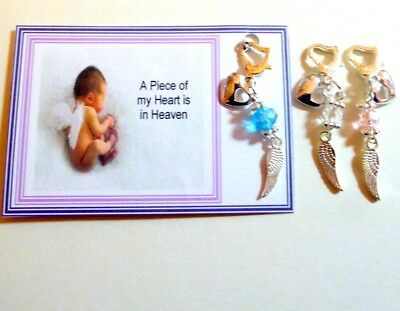 Baby Loss Remembrance A Piece of my Heart is In Heaven Memorial Charm Gift