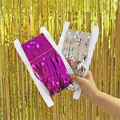 Foil Door Curtain Shimmer Holographic Birthday Party Decorations Fringe Garland