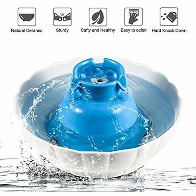 Pet Water Fountain For Dogs And Cats 70 Oz Ceramic Drinking Bowl With Filters &