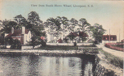 View from South Shore Wharf ,LlIVERPOOL , Nova Scotia , Canada , PU-1916