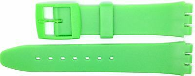 New 17mm (20mm) Resin Strap Compatible for Swatch Watch - Light Green - RG14LG