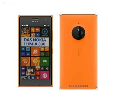 Nokia Lumia 830 in Orange Handy Dummy Attrappe - Requisit, Deko, Ausstellung