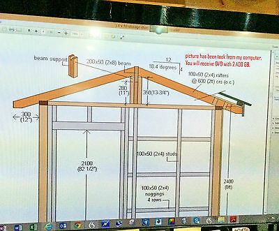 Woodwork & Joinery Plans DVD Massive Collection - Shed Barn Log Cabin Toys Gate