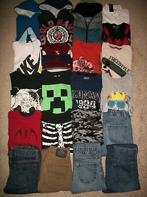 Lot Of 21 Boys Size 10 12 Namebrand Fall Winter Old Navy Levi's Gap Guc!!