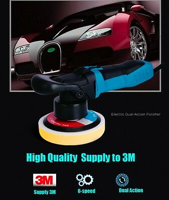 Variable Speed Thread 8mm Professional Dual Action Orbital Polisher 110V 600w