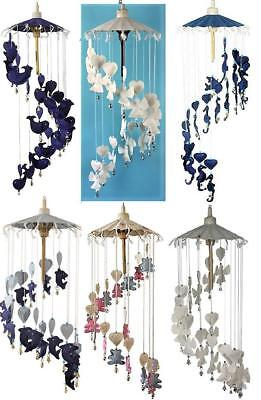 Fair Trade Large Hanging Mobile Angel Heart Whale Dolphin Seahorse Teddy Bells