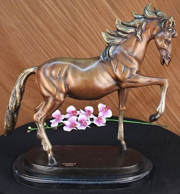 Huge Sale GORGEOUS REAL BRONZE HORSE STALLION SCULPTURE NUMBERED FIGURINE SB