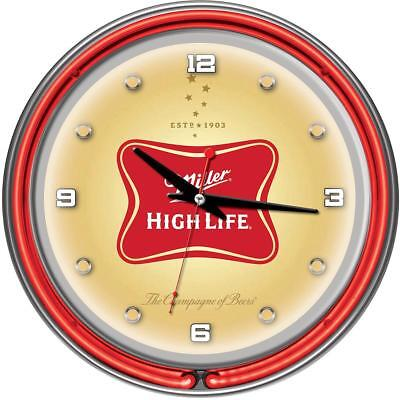 "Miller High Life 14"" Neon Wall Clock"