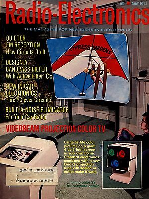*Radio Electronics May 1974 FIRST BIG Screen Projection TV-Car Electronic Filter