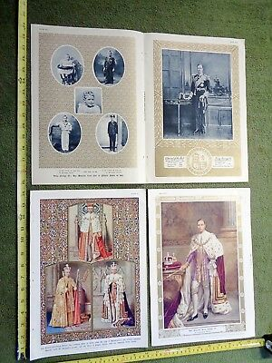 lot of 4 prints/ plates 1937 KING GEORGE VI royalty CORONATION crown FOR FRAMING