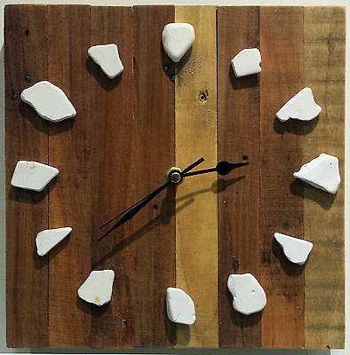 Original Driftwood Wooden/Wood Clock Recycled Reclaimed Rustic Shabby Handmade