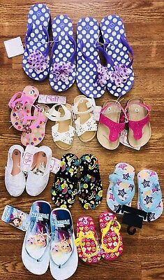 Lot of 10 baby toddler girl spring Summer shoes Flip Flops Sandals NWT Wholesale