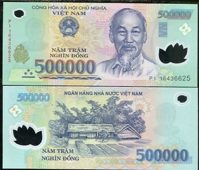 1,000,000 (1 MILLION) VIETNAM DONG (2) 500k NOTES VIETNAMESE CURRENCY BANK NOTES