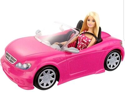 Barbie Glam Convertible Doll Vehicle Pink Car Mattel New Hot Seats Girls Toy New
