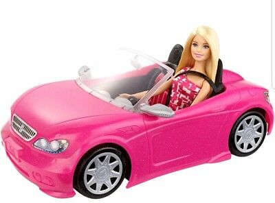 New Barbie Glam Convertible Doll Vehicle Pink Car Mattel New Hot Seats Girls Toy