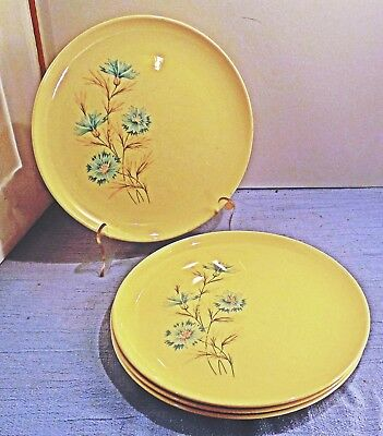 TST Taylor Smith Taylor Boutonniere lot of 4 Dinner Plates