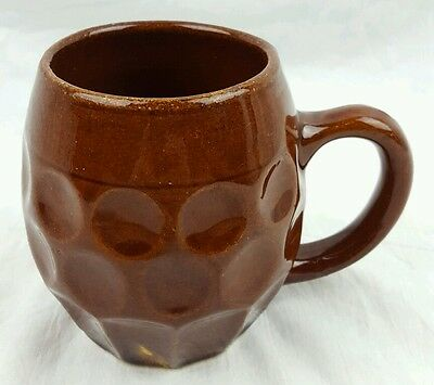 """Vintage 1920's Hull Pottery 5.5"""" X 4.25"""" Stoneware Mug Stein Made in USA 493"""