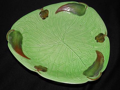 Vintage CARLTON WARE Candy Dish Leaves Berries Green Shades Australian Design