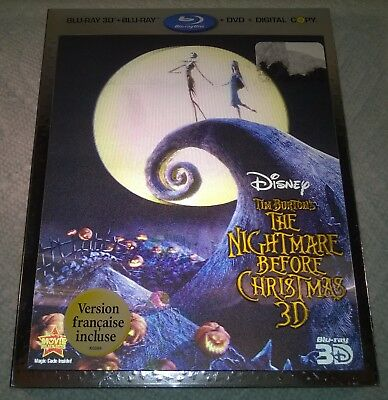 Disney The Nightmare Before Christmas (2011 Canada) 3D Lenticular Slipcover Only
