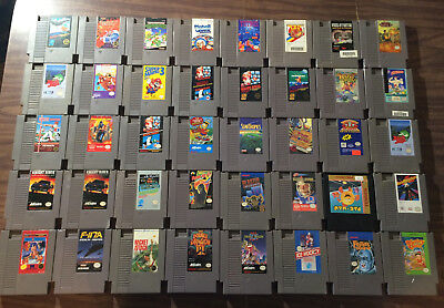 Large Lot of 40 Games (Nintendo, NES) -- Uncleaned -- Untested   ---- AS IS ----