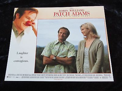 PATCH ADAMS lobby card #1 ROBIN WILLIAMS poster, MONICA POTTER poster