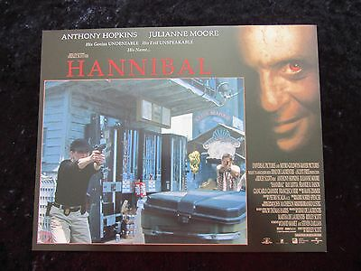 HANNIBAL lobby card # 9 ANTHONY HOPKINS, JULIANNE MOORE, SILENCE OF THE LAMBS