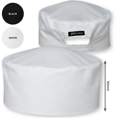 JB's wear Chef's Vented Cap hat with Mesh Top Elastic strap Hospitality Kitchen