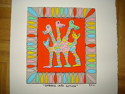 "JAMES RIZZI: original 3D ""SPRING INTO ACTION"", 2001, handsigniert, ausverkauft"