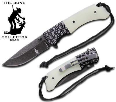 BC 847-WH G-10 and Metal Handle Folding Knife Tactical Bone Collector