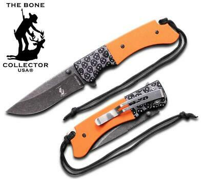 BC 847-OR G-10 and Metal Handle Folding Knife Tactical Bone Collector