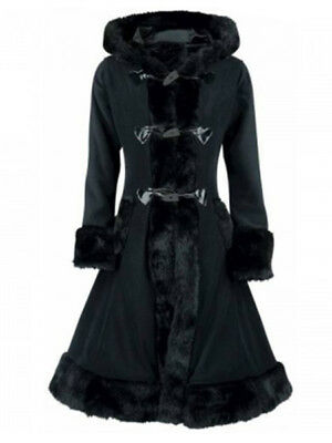 Long Vintage Gothic Medieval Trench Coat Women's Winter Ladies Outerwear
