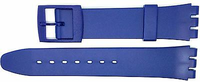 New 17mm (20mm) Resin Strap Compatible for Swatch Watch - Blue - RG14B