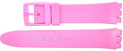 New 17mm (20mm) Resin Strap Compatible for Swatch Watch - Pink - RG14P