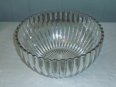 Heisey CRYSTOLITE  Pressed Glass /Thin Blown Punch Bowl