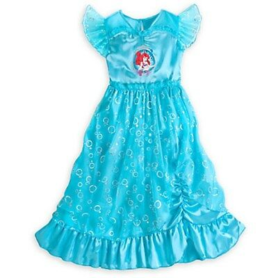NEW Disney Store Princess Ariel Deluxe Nightgown size 4 NWT The Little Mermaid