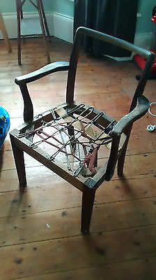 Art Deco? Old Vintage Wooden Chair Upholstery Project, good quality shaped frame