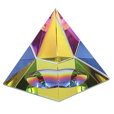 OwnMy Crystal Pyramid Iridescent Suncatchers Prism Rainbow Color with Gift Box