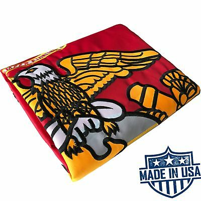 US Marine Corps Flag 3x5 for Outdoor Made in USA - Heavy Duty All Weather USMC