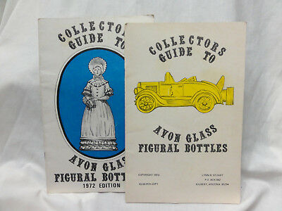 Vintage Lot of  Two 1972 & 1973 Collectors Guide to Avon glass figural bottles
